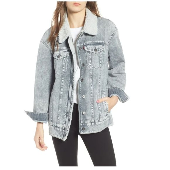 Levi's denim oversize trucker jacket
